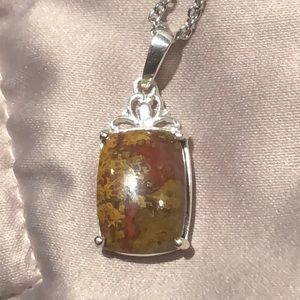 African Agate Pendant Necklace NWOTS